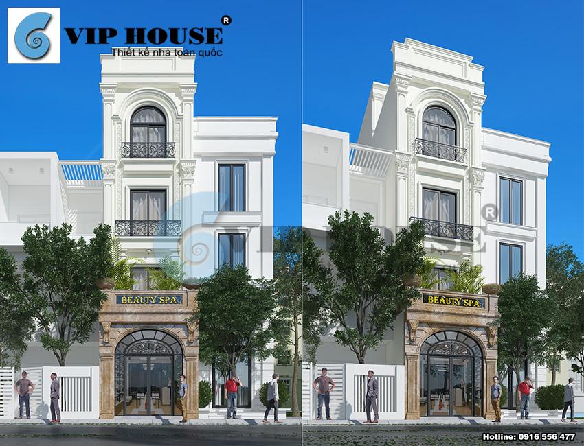 Thiết kế nhà phố 4 tầng phong cách tân cổ điển đẹp tại Hà Nội