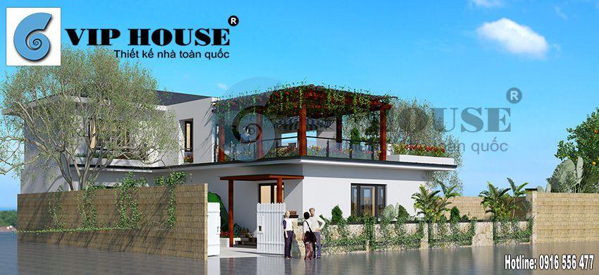 Tư vấn thiết kế nhà vườn 2 tầng phong cách hiện đại