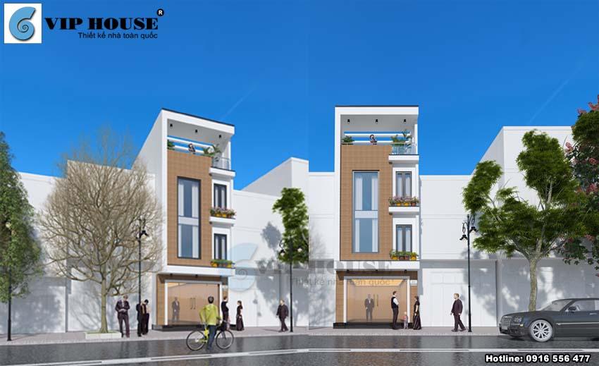 Mẫu thiết kế nhà phố hiện đại 4 tầng mặt tiền nhỏ