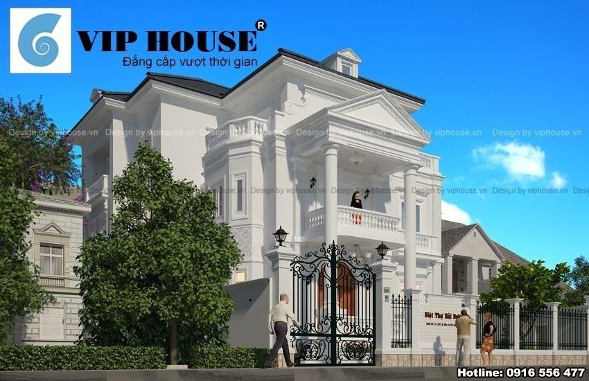 Tuyển tập những mẫu thiết kế biệt thự kiểu Pháp 3 tầng đẹp mê mẩn