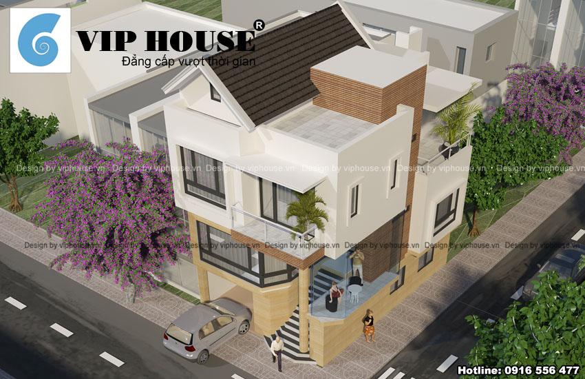 Thiết kế biệt thự hiện đại Á Đông tại Ninh Bình