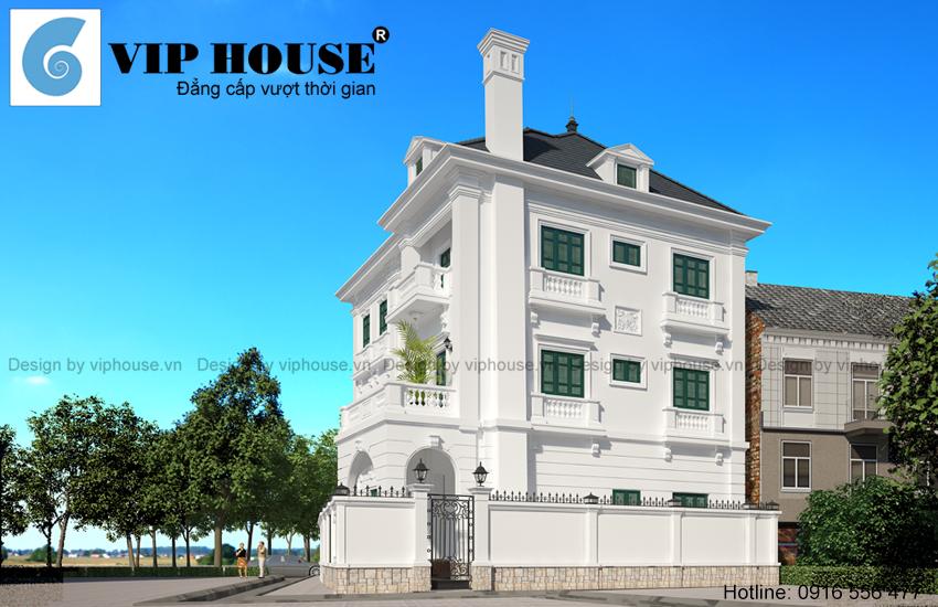 Tư vấn thiết kế biệt thự kiểu Pháp 3 tầng cho chủ đầu tư tại Hồ Tây - Hà Nội
