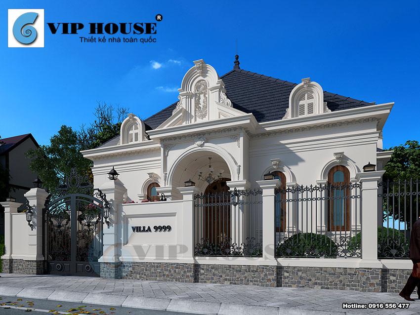 Tư vấn thiết kế biệt thự kiểu Pháp 1 tầng đẹp tại Thanh Hóa