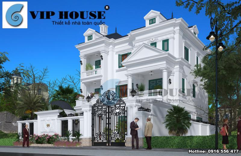 Biệt thự kiểu Pháp 3 tầng không thể không mê tại Ninh Bình