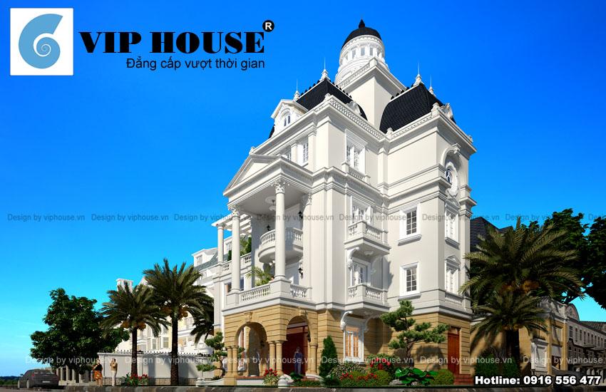 Xây dựng và thiết kế biệt thự kiểu Pháp cho chủ đầu tư Bùi Đình Việt tại Vĩnh Phúc
