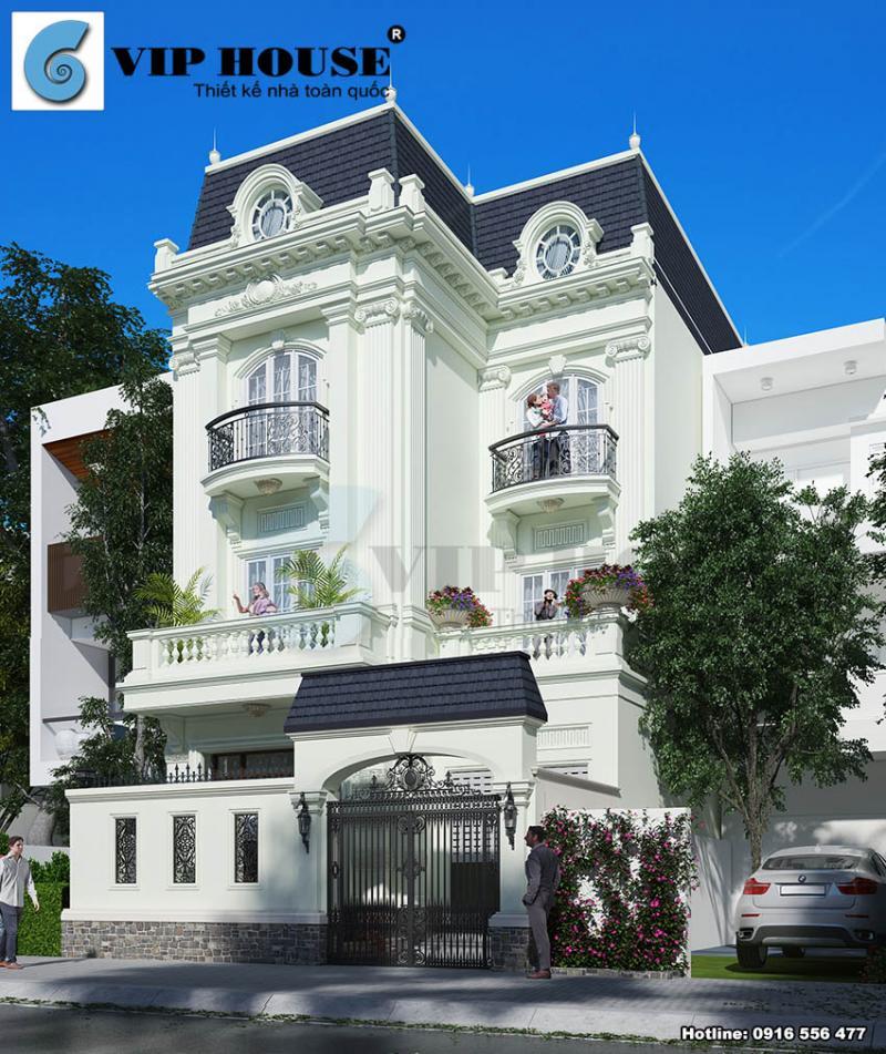 Xây dựng nhà đẹp với biệt thự kiểu Pháp tại Sài Gòn