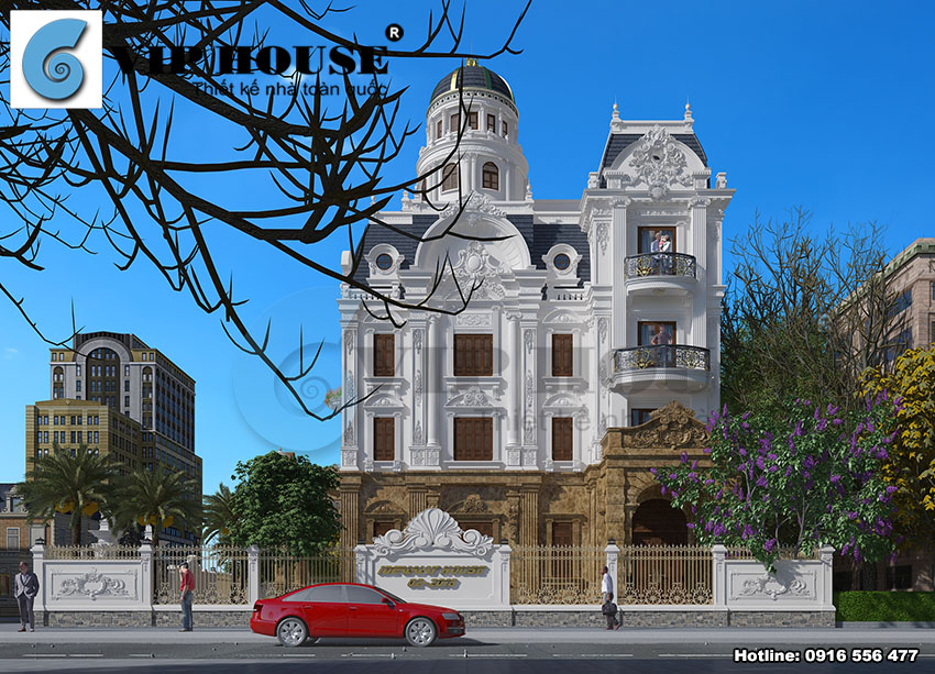 Tư vấn thiết kế biệt thự kiểu Pháp lâu đài sang trọng tại Nam Định