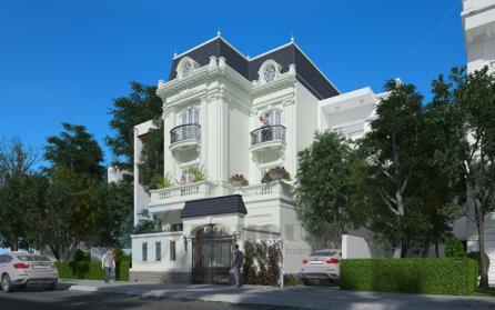 Thiết kế biệt thự kiểu Pháp 3 tầng ấn tượng tại Sài Gòn